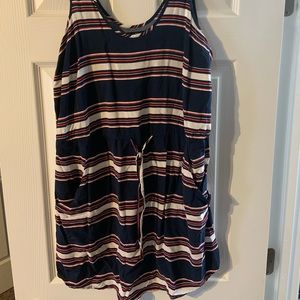 Gap Dress Size Large Tie Waist with Pockets